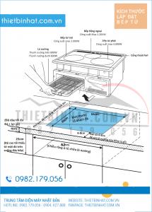 hướng dẫn lắp đặt bếp từ nhật hitachi ht-k6k